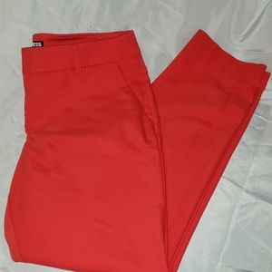 Express Mid Rise Ankle Columnist Pant Size 6R. Red